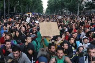 Seguda pacifícia a l'avinguda del Marquès de l'Argentera