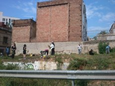 Solar recuperat com hort urbà a Vallcarca (Gràcia)