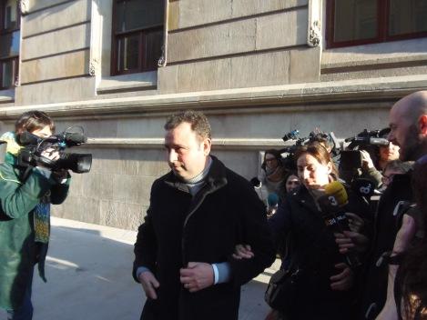 Pérez a la sortida dels jutjats.